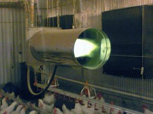 Газовый теплогенератор для обогрева курятника