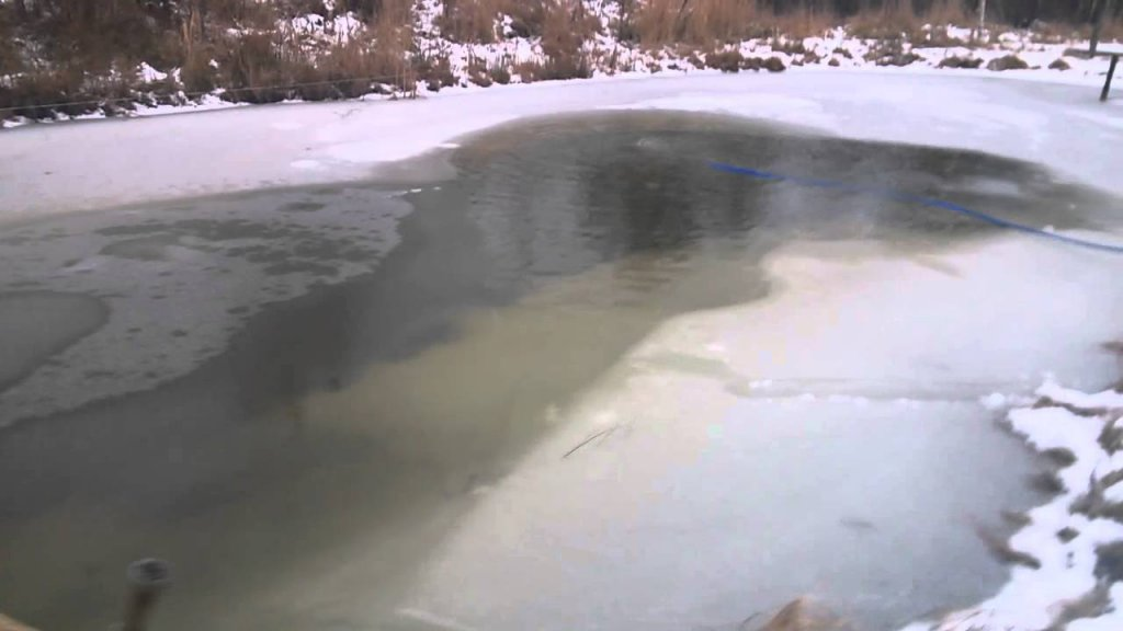 Аэрация пруда зимой