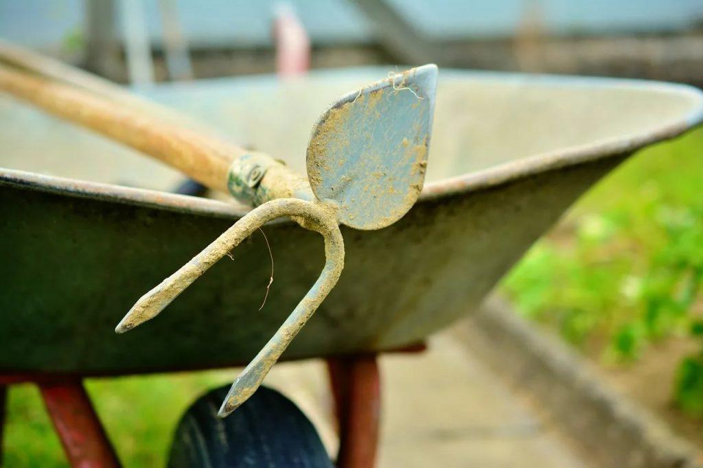 Инструмент для окучивания чеснока